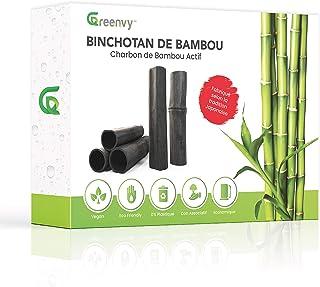 Greenvy™ | Filtre à Eau zéro déchet au Charbon Actif de Bambou Bio x5 - Binchotan purificateur d'eau du Robinet en Carafe...