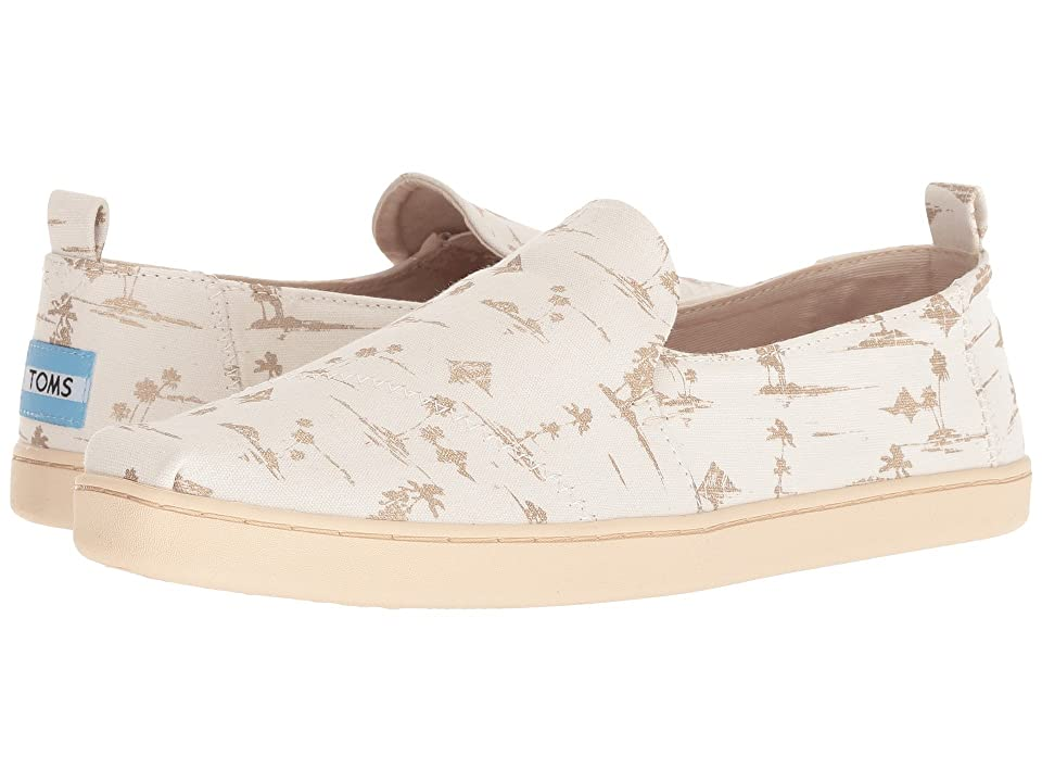 TOMS Deconstructed Alpargata (White/Gold Palms) Women