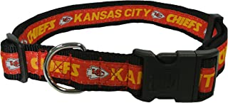 NFL Kansas City Chiefs Dog Collar, X-Large SUPER TOUGH with Anti-Open Safety Lock Button