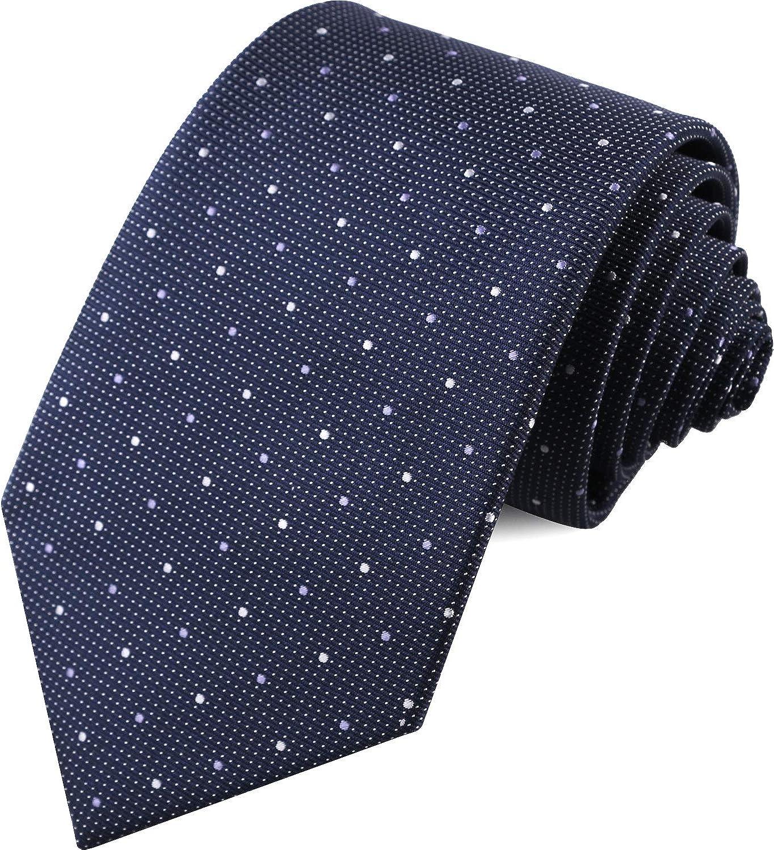 BiboBaba Men's Ties.Men's Classic Hand Made Tie. JACQUARD Necktie.Striped tie for men.