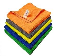 SOBBY Microfiber Cloths (40 cm x 40 cm - Multi colour) - Pack of 5