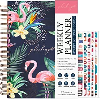 PLANBERRY Weekly Schedule Planner Large – 8″ x 10.4″ Elegant Hourly Schedule & Budget Planner for Time Management – Organi... photo