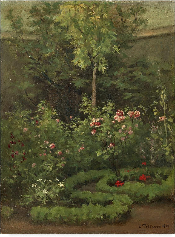 Trademark Fine Art a pink Garden by Camille Pissarro, 14x19, Multicolor