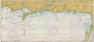 Map - South Coast Of Cape Cod And Buzzards Bay, 1978 Nautical NOAA Chart - Massachusetts (MA) - Vintage Wall Art - 24in x 11in