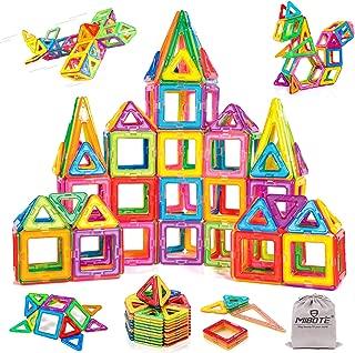 MIBOTE 109 PCS Magnetic Building Blocks Toys Educational Magnet Tiles Set for Boys/Girls, STEM Toys for Toddler/Kids - All of Them are Magnet, NO Cards