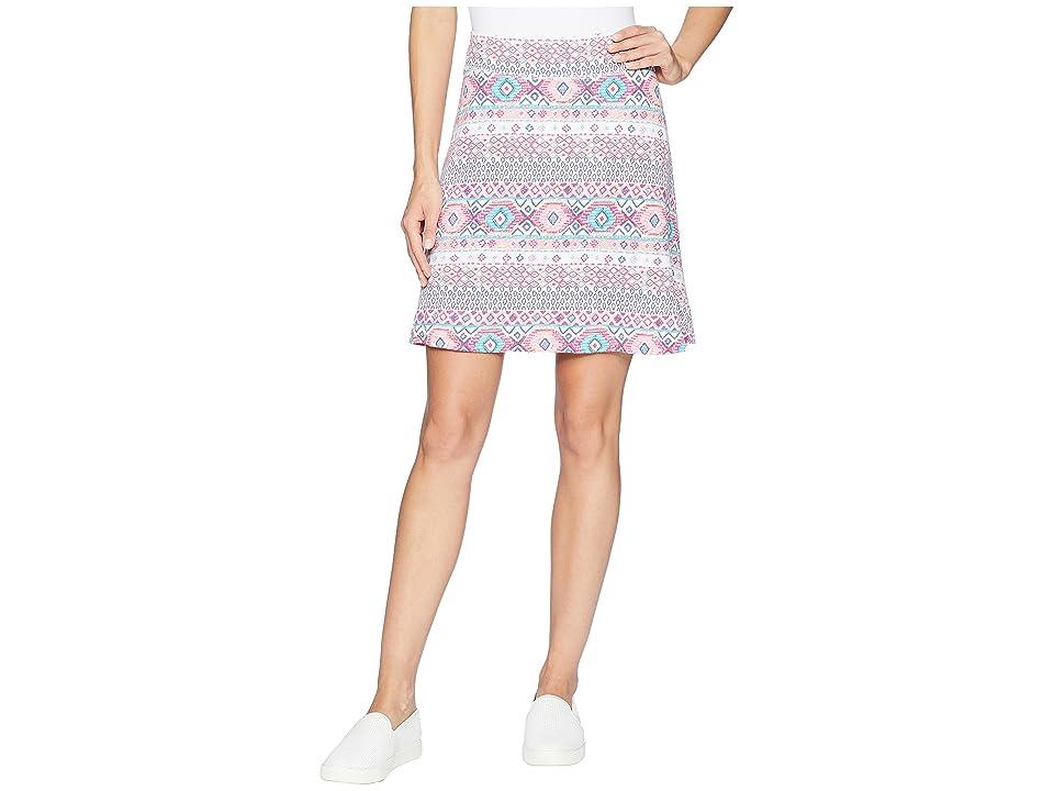 Fresh Produce Stamped Geo Marina Skirt (White) Women