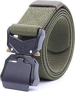 """Tactical Belt,Nylon Webbing Waist Belt 1.5"""" Nylon Work Belt with Heavy Duty Quick Release Buckle"""