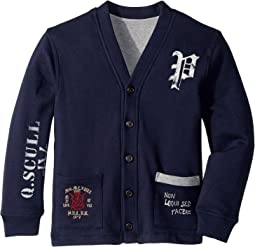 Reversible Fleece Cardigan (Little Kids/Big Kids)