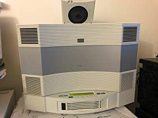 Bose Acoustic Wave Music System II with 5-CD Multi Disc Changer, Platinum White, Compatible with Alexa