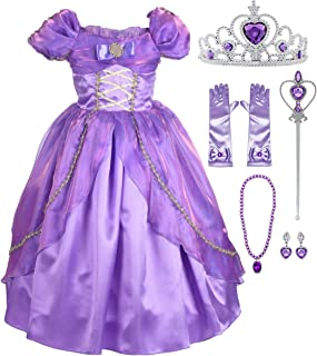 Lito Angels Girls Princess Dress Up Costume Halloween Christmas Fancy Dress Outfit with Accessories