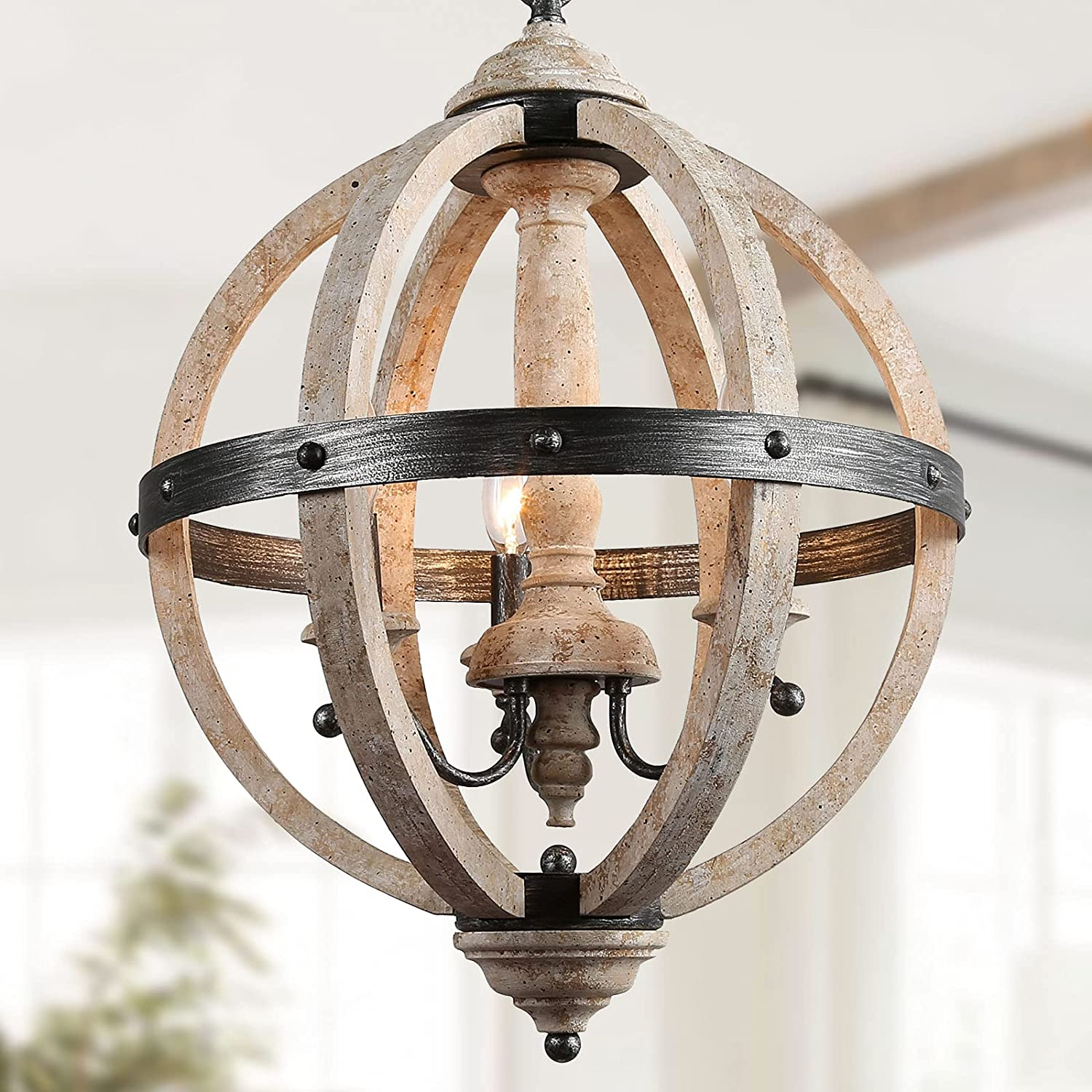 Super beauty Limited time for free shipping product restock quality top KSANA Farmhouse Chandeliers for Dining Chandeli Rustic Room Orb
