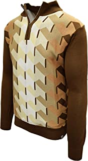 Men's Sweater, Ombre Geometric Front Design