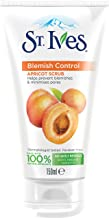 St. Ives Blemish Control Apricot 100 Percent Natural Exfoliants Face Scrub to Unclog Pores, 150 ml (Pack of 3)