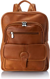 Piel Leather Medium Buckle Flap Backpack, Honey, One Size