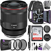 Canon RF 50mm f/1.2L USM Lens w/Advanced Photo and Travel Bundle