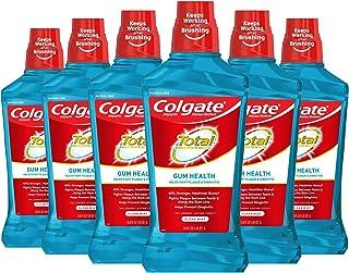 Sponsored Ad - Colgate Total Gum Health Alcohol Free Mouthwash, Antibacterial Formula, Clean Mint - 1L, 33.8 fluid ounce (...