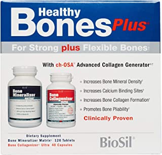 BioSil by Natural Factors, Healthy Bones Plus, Supports Bone Mineral Density and Collagen Formation, Dietar...