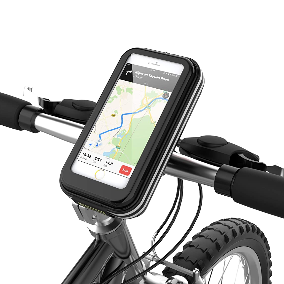 lovicool Bike Phone Case Cycling Phone Bag Phone Holder Road Mountain Bike Holder Bicycle Bag with Waterproof Sensitive Touch Screen Phone Case Below 6.2 inch[Enhanced Version 2018]