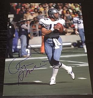 Roger Staubach Autographed Photo - LEGEND 11x14 COA B - Autographed NFL Photos