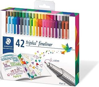 Staedtler 334C42 Triplus Fineliner 42-Color Assorted Super Fine Water-Based Marker