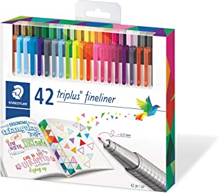 Staedtler Fineline Pen Triplus, 42 Assorted, Brilliant Colours, Set of 42, (334 C42)