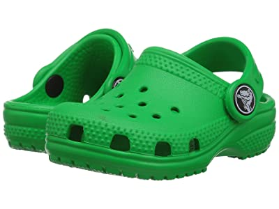 Crocs Kids Classic Clog (Toddler/Little Kid/Big Kid) (Grass Green) Kids Shoes