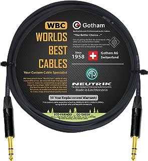 1,9 m – Gotham GAC-4/1 (negro) – Star Quad – 2 x blindados (cobertura 100%) cable de conexión equilibrado con Neutrik NP3...