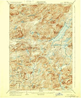 YellowMaps Piseco Lake NY topo map, 1:62500 Scale, 15 X 15 Minute, Historical, 1906, Updated 1929, 20.2 x 16.6 in