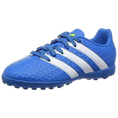 sports shoes d2a41 3ba86 adidas Unisex Kids  Ace 16.4 Turf J Football Boots Blue,White