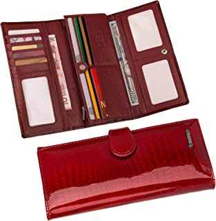 Womens Wallet Clutch RFID Blocking Genuine Leather Large Capacity Card Holder