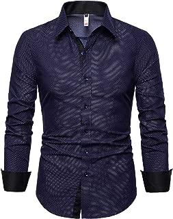 Mens Dress Shirts Regular Fit Button Down Long Sleeve Men Casual Shirt