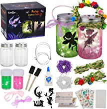 tomser Fairy Lantern Craft Kit, Unique Color DIY Fairy Jar Night Lights Craft Princess Fairy Lantern Jars Arts and Crafts ...