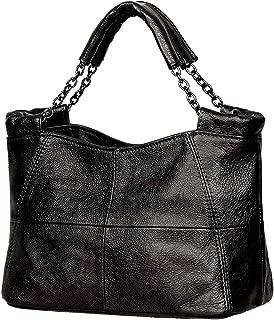 Jack&Chris Splicing Satchel Crossbody Bags for Women Leather Top Handle Handbags