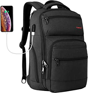 Tigernu Travel Laptop Backpack Business Anti Theft Slim Backpacks with USB Charging Port Water Resistant Bookbag for Women...