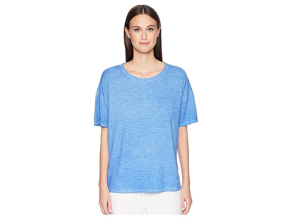 Eileen Fisher Jewel Neck Box-Top (Blue Bell) Women
