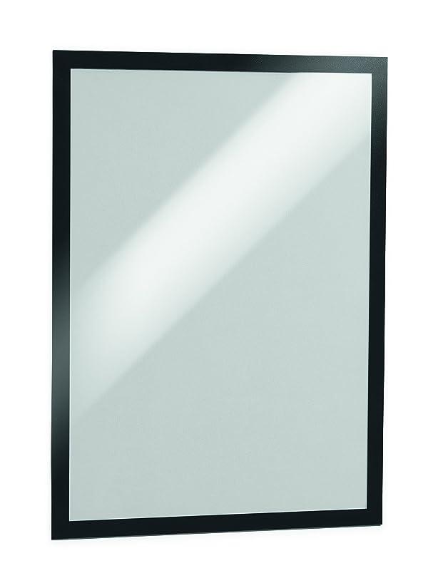 Durable Magaframe Self Adhesive Repositionable Wall Sign A3 - Black (Packof 2)