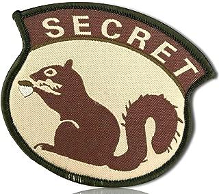 Special Ops Multicam Military Morale Agent Spy Secretive Secret Squirrel Bold All Cap Caps Capitol Font Hook & Loop Fastener Patch [10 Pack - 2.5