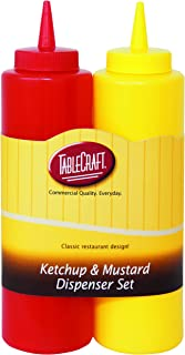 TableCraft 112KM Nostalgia 2-Piece Ketchup and Mustard Dispenser Set, 12-Ounce
