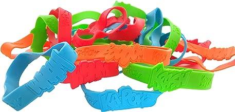 Dondor SUPERHERO' Rubber Bracelets For Children, By (SUPERHERO - 48 Pack)