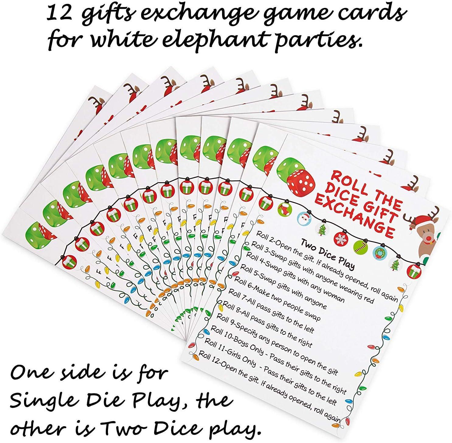 Buy Christmas Game White Elephant Gift Exchange Xmas Holiday Party ...