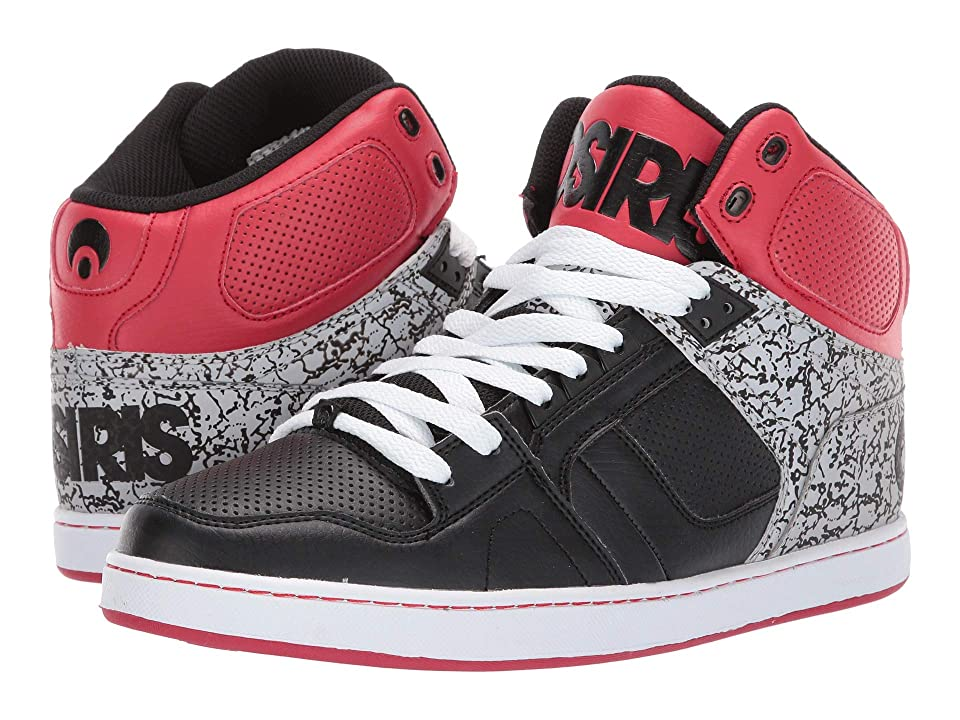 Osiris NYC 83 Classic (Black/Red/Silver) Men's Shoes