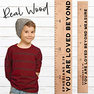 Growth Chart Art | Giant Ruler Wooden Height Chart | Wood Growth Chart for Babies, Kids, Boys & Girls | Loved Beyond Measure (Loved Beyond)