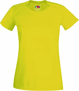 Fruit Of The Loom Ladies/Womens Performance Sportswear T-Shirt (UK Size: XS) (Bright Yellow)