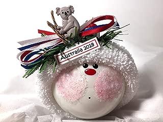 Australia Souvenir Gift Christmas Glass Ornament Koala Bear Hand Painted Hand Made Personalized 1479