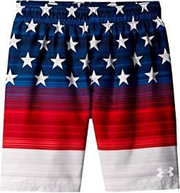 Under Armour Kids Americana Striped Volley Shorts (Big Kids)