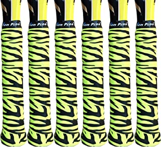 Alien Pros Tennis Racket Grip Tape (6 Grips) – Tac Moisture Feel Tennis Grip – Tennis Overgrip Grip Tape Tennis Racket – Wrap Your Racquet for High Performance (6 Grips)