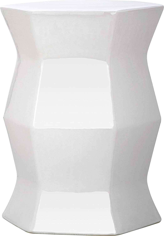 2021 Safavieh Modern Hexagon Ceramic White Garden Stool Max 60% OFF Decorative