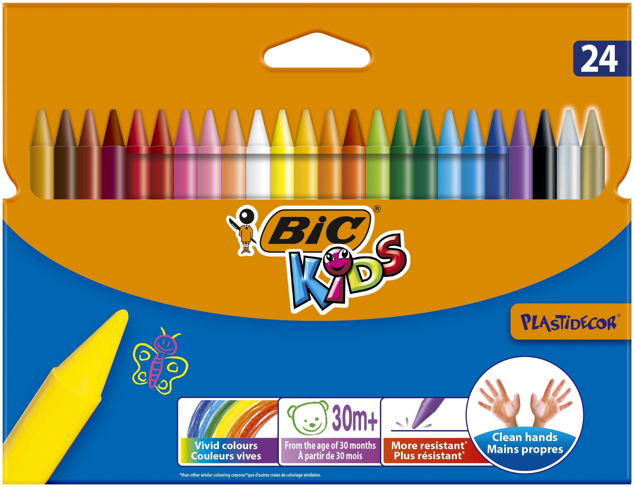 Niños Plastidecor Crayons Color Dureza larga duración afilable Vivid Surtido Ref. 829772 [Pack de 24]: Amazon.es: Oficina y papelería
