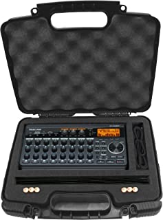 Casematix Recorder and Accessory Hard Case Compatible with Tascam Dp 008ex, DP 006 Digital Pocket Studio Multi Track Recorders, Adapter, Cables and Charger
