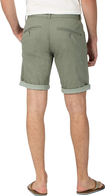 Timezone Herren Slim Jannotz Shorts Grün (Green Micro Point 4086)